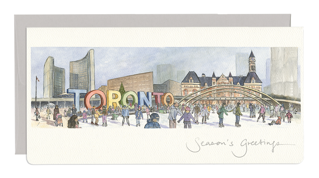 City Hall Skaters Holiday Card
