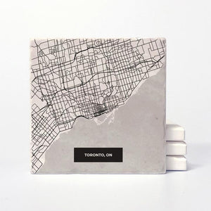 Toronto Map Ceramic Coaster