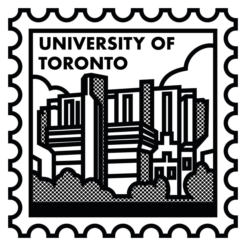 University of Toronto Robarts Library Screen Print (Neighbourhood Stamps Series)