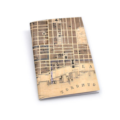 Vintage Toronto Map Notebook