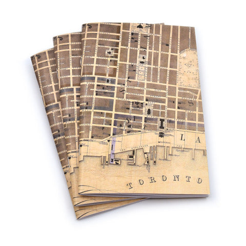 Vintage Toronto Map Notebook 3-Pack