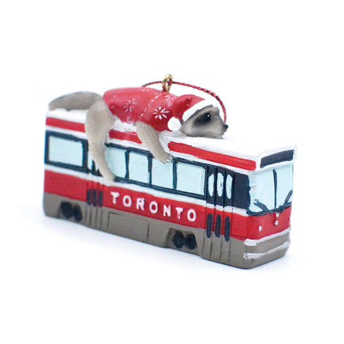 Raccoon Streetcar Ornament