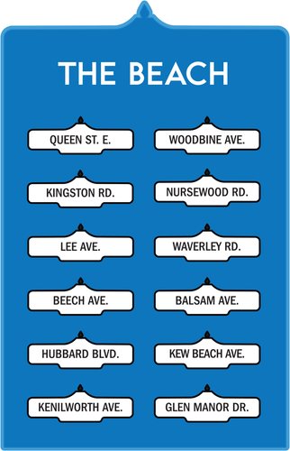 Toronto Street Signs Print: The Beach