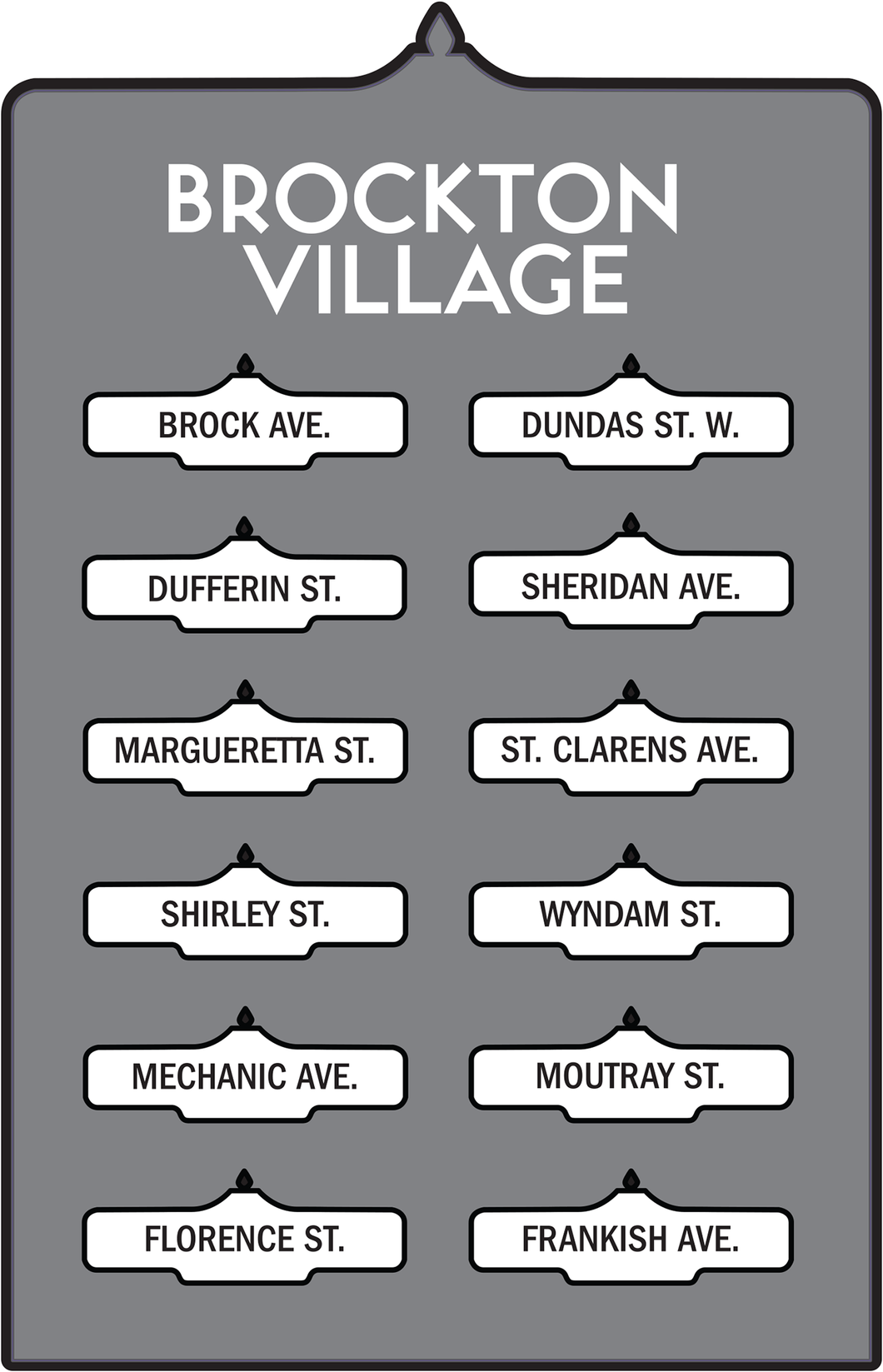Toronto Street Signs Print: Brockton Village
