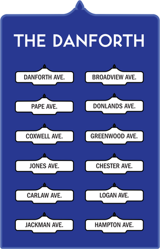 Toronto Street Signs Print: The Danforth