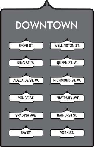 Toronto Street Signs Print: Downtown
