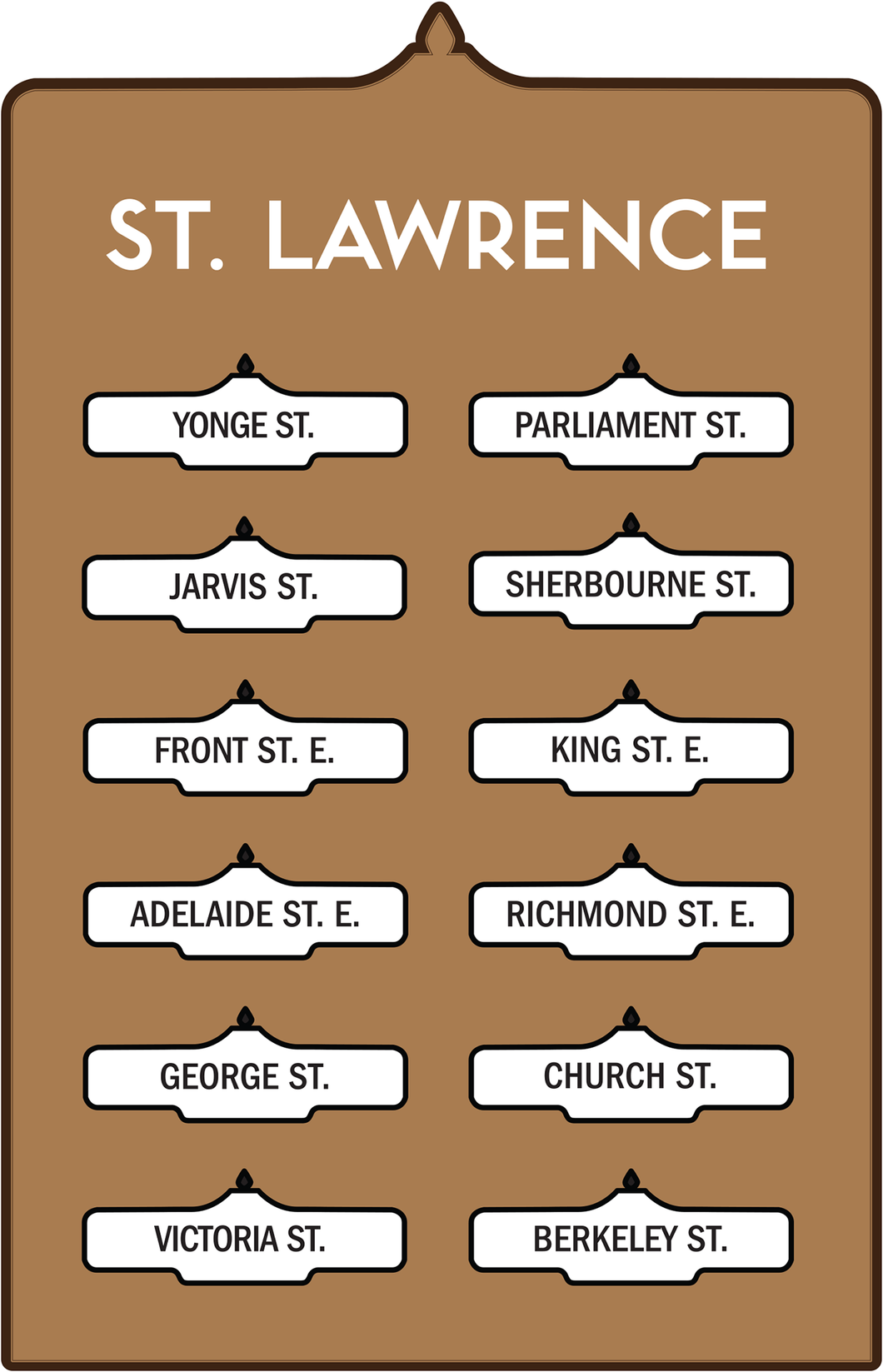 Toronto Street Signs Print: St Lawrence