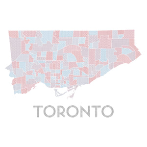 Toronto Neighbourhoods map print
