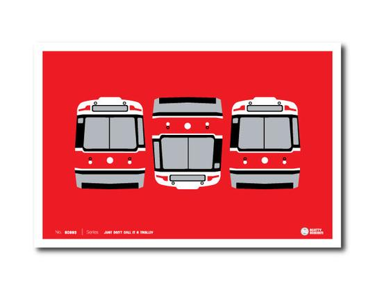 Three Streetcars (The Troublemaker) Print