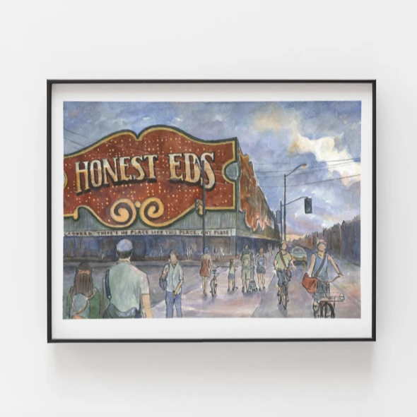 Honest Ed's Art Print