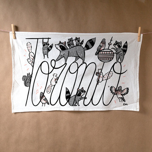 Toronto City Critters Tea Towel