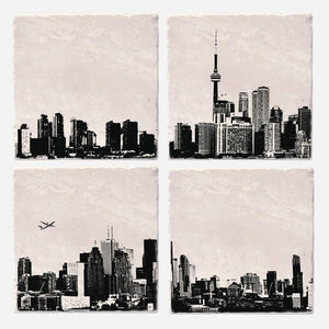 Toronto Skyline Ceramic Coaster Set