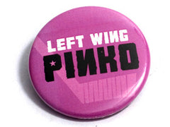 Left Wing Pinko button