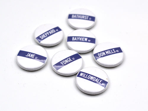 North York Street Sign Button Sets