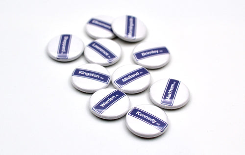 Scarborough Street Sign Button Set