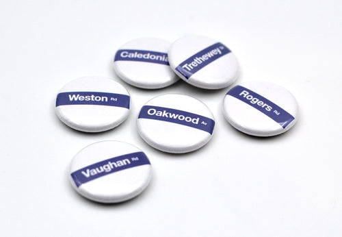 York Street Sign Button Sets