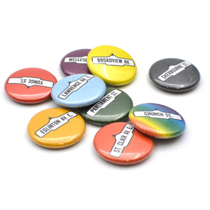 Toronto Street Sign Button Sets