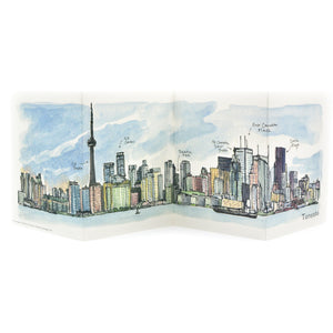 Skyline Accordion Card