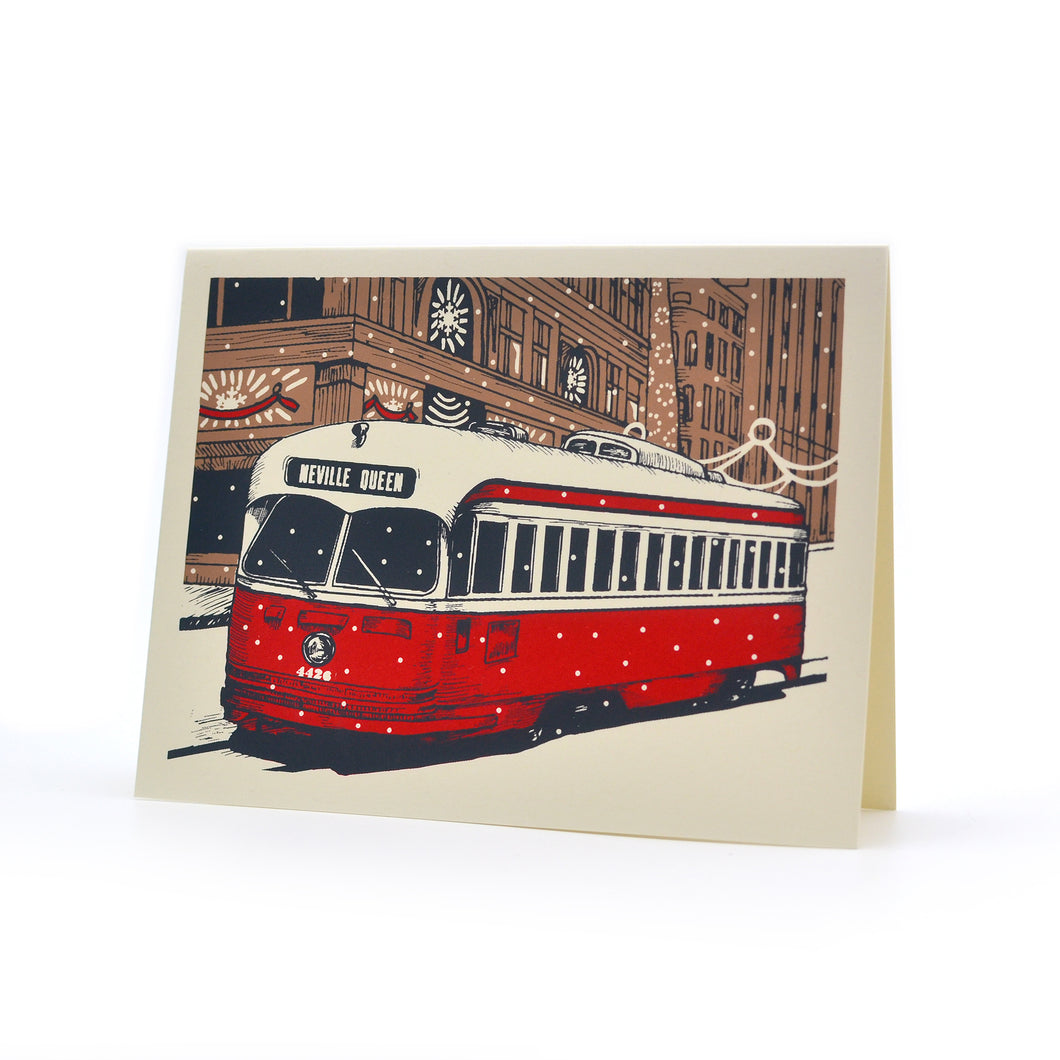 TTC Streetcar Christmas Greeting Card