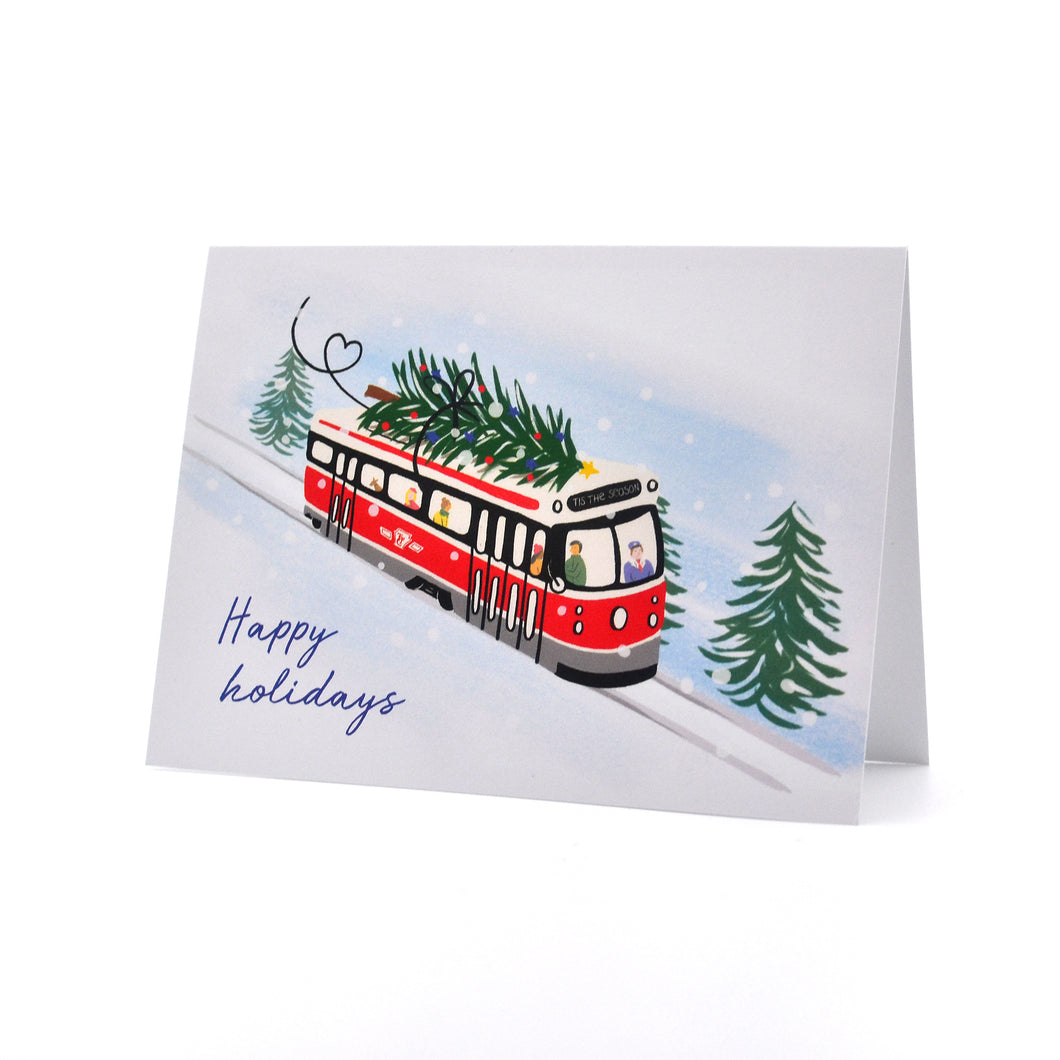 Streetcar Happy Holidays Greeting Card