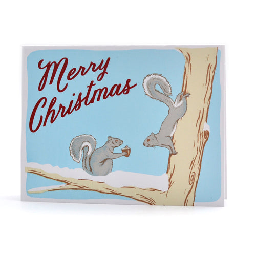 Merry Christmas Squirrels Card