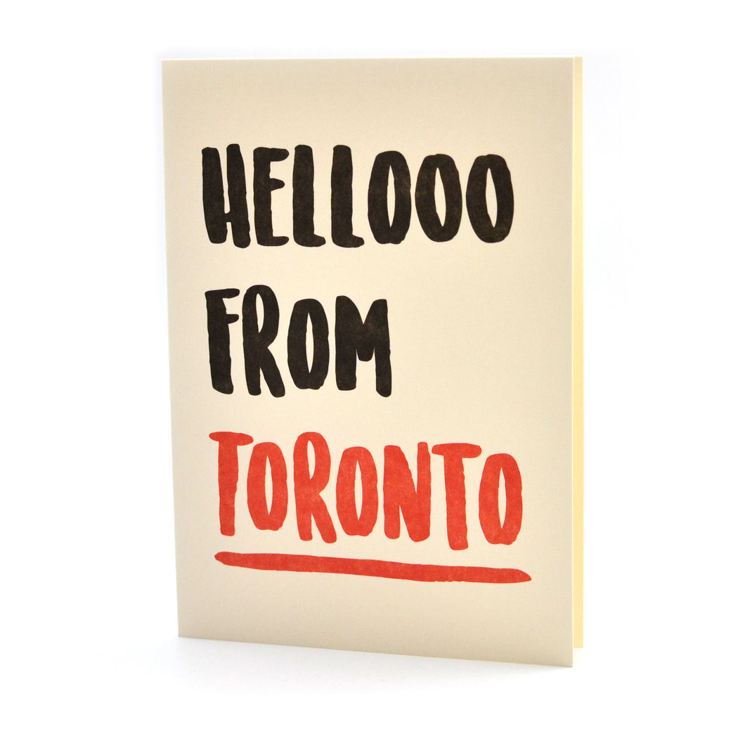Hello From Toronto Card