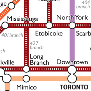 City of Canada Transit Map Print