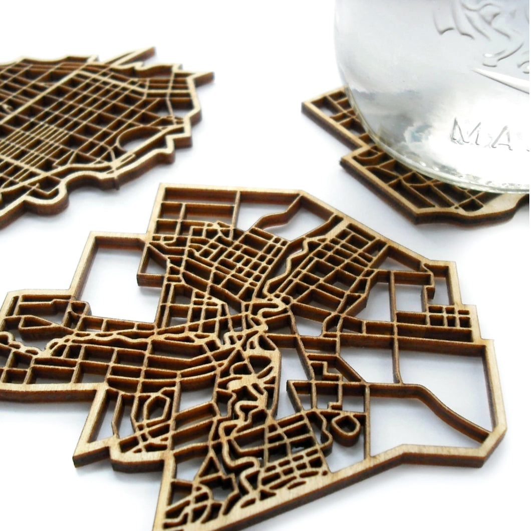 Canada city coasters by National Design Collective