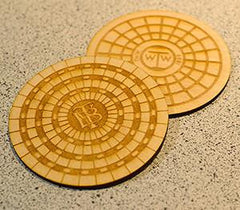 Toronto Sewer Cover Coasters