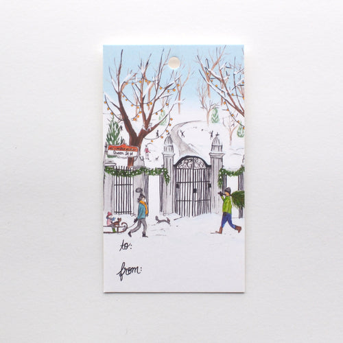 Trinity Bellwoods Toronto Holiday Gift Tag