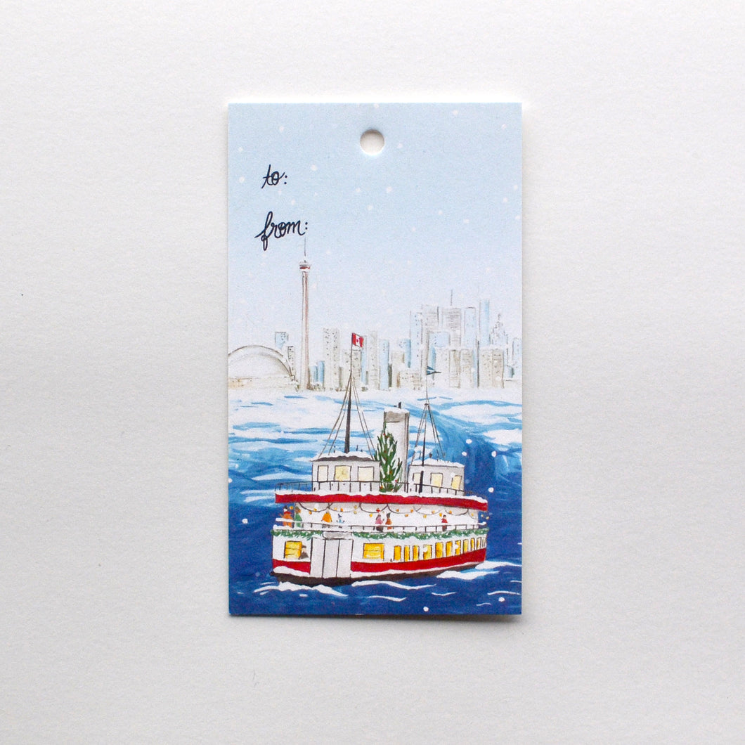 Toronto Island Ferry Holiday Gift Tag