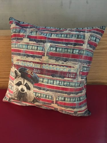 Raccoon Streetcar Pillowcase