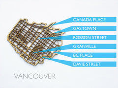 Vancouver city coasters by National Design Collective