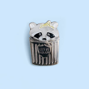 Trash Can Raccoon Lapel Pin