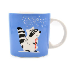 Raccoon Christmas Mug