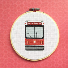 Load image into Gallery viewer, Not In Service Streetcar Cross Stitch Kit
