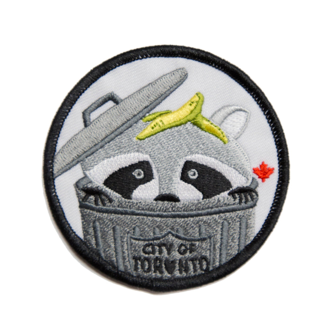 Trash Can Raccoon Patch