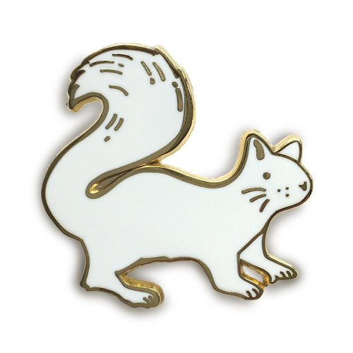 White Squirrel Lapel Pin