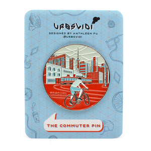 Commuter Enamel Pin