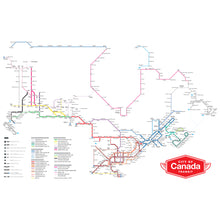 Load image into Gallery viewer, City of Canada Transit Map Print
