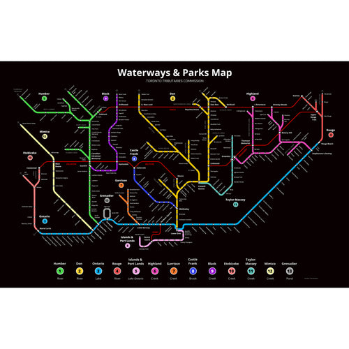 Toronto Waterways Subway Map