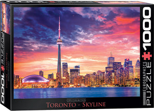Toronto Skyline at Sunset Jigsaw Puzzle