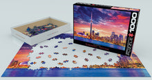 Load image into Gallery viewer, Toronto Skyline at Sunset Jigsaw Puzzle