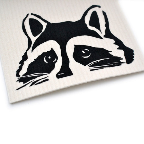 Peeking Raccoon Swedish Dishcloths