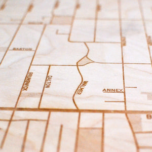 Annex Wooden Wall Map