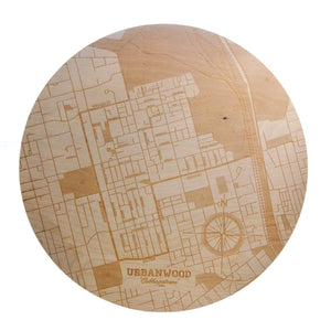 Cabbagetown Wooden Wall Map