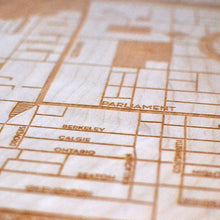 Load image into Gallery viewer, Cabbagetown Wooden Wall Map