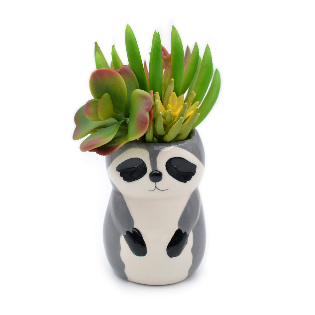 Raccoon Ceramic Vase