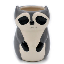 Load image into Gallery viewer, Raccoon Ceramic Vase
