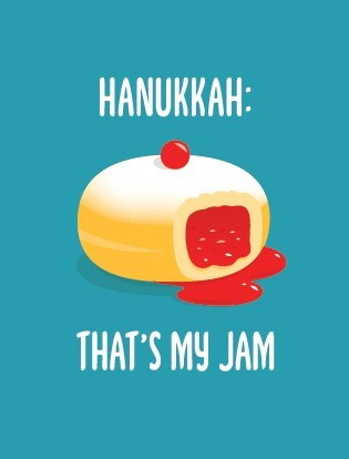 Hanukkah: That's My Jam Greeting Card